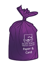 Purple sack - paper and card