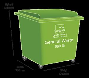 Green Bin - 660 litre size