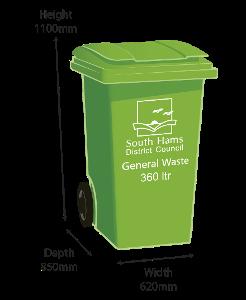 Green Bin - 360 litre size