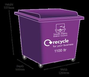 Purple Bin - 1100 ltr