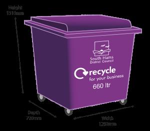 Purple bin - 660 ltr